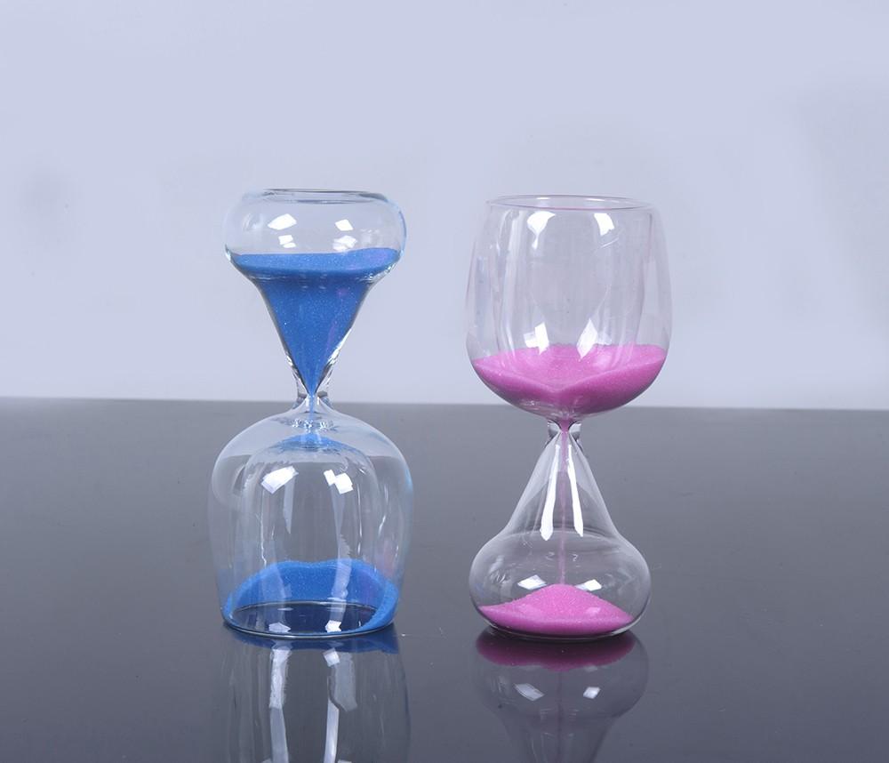 שעון חול כוס זכוכית