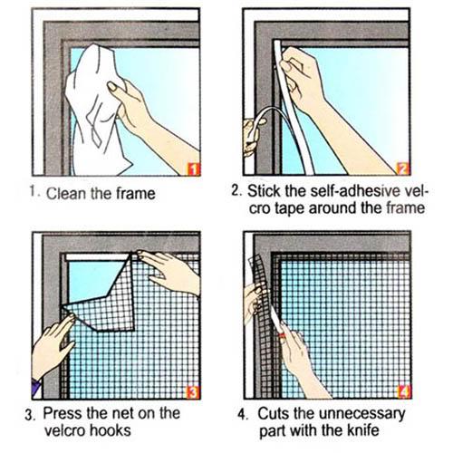 ניס רשת הקסם | רשת לחלון נגד חרקים | רשת חלון | רשת נגד יתושים | רשת RF-87