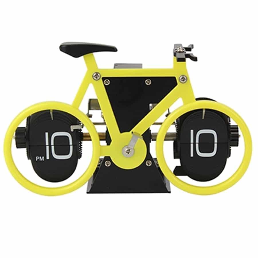 שעון פליפ אופניים צהוב
