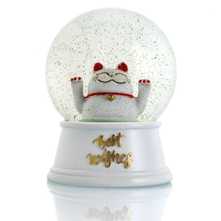 כדור שלג חתול המזל2